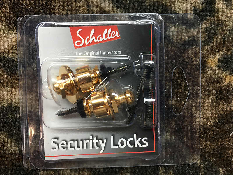 Genuine Schaller 447 Gold Strap Lock System NEW