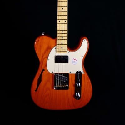 G&L Tribute ASAT Classic Bluesboy Semi-Hollow Clear Orange w/Maple