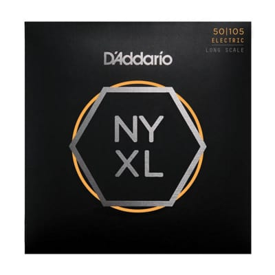 D'Addario NYXL50105 Med. Round Long Bass Strings
