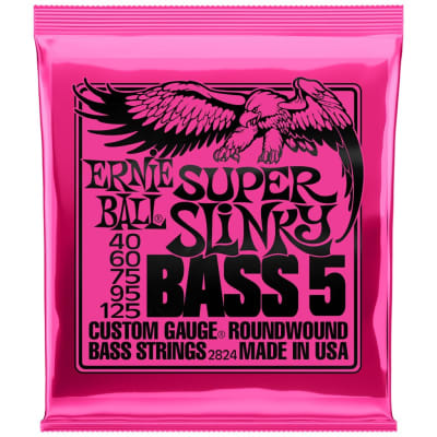 Ernie Ball Super Slinky 40-125 5-String Bass Guitar Strings