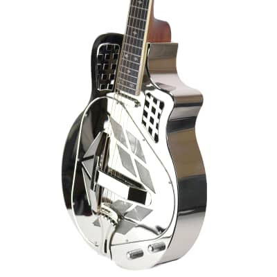 Royall Trifecta Bright Nickel Finish Brass 12 Fret Cutaway Tricone With Pick Up for sale