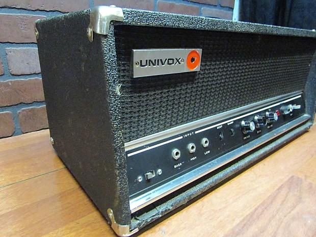 Bass Guitar Tube Amplifier : nice vintage univox 1236 1960 39 s bass guitar tube amp head reverb ~ Hamham.info Haus und Dekorationen