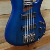 New Ibanez SR505 5 String Electric Bass Sapphire Blue Flat for sale