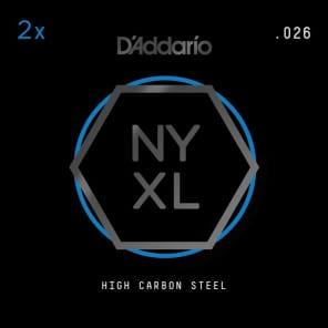 D'Addario NYXL 2-Pack Plain Steel Guitar Strings .026