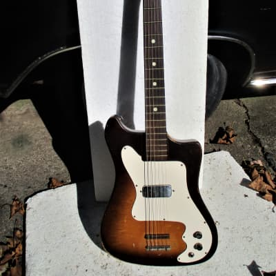 Kay  Vanguard Guitar,  1960's,  Sunburst, Fresh Setup, Plays & Sounds Good for sale