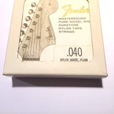 Fender Box of 12 RARE Fender Mastersound Nylon White Plain 0.40 60's