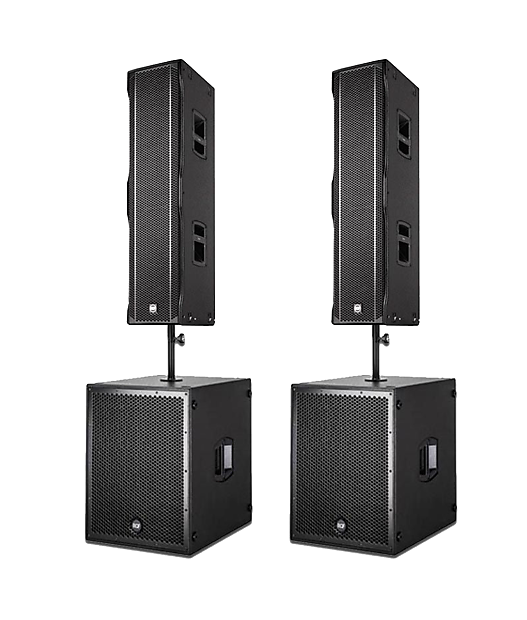 (2) RCF 8004-AS and (2) NX L-44A 2017 - Full PA Speaker System