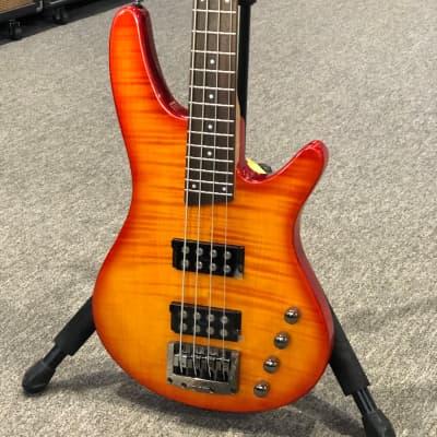 Ibanez SRX 500 4-String Bass 24 Fret - Flame Top Cherry Sunburst with Gigbag for sale