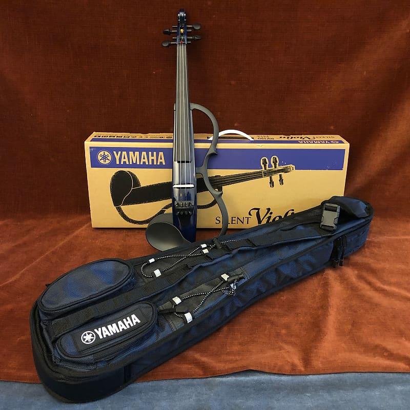 Yamaha SV-130 Silent Series Electric Violin Navy Blue w/ Gig Bag
