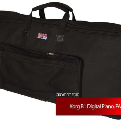 Gator Cases Keyboard Slim Gig Bag for Korg B1 Digital Piano, PA1X PRO ELITE