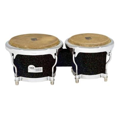 Toca Custom Deluxe Bongos - Black Sparkle