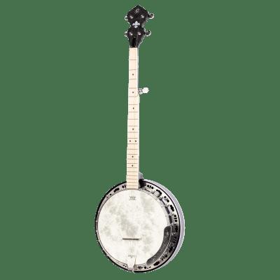 Ortega OBJE400TCO-L Raven Series Banjo 5 String Lefty Transparent Charcoal + Gigbag