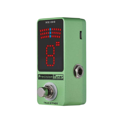 Guitar Pedal Tuner LED Display with True Bypass for Chromatic Guitar Bass