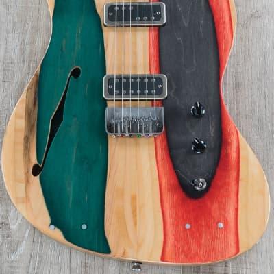 Prisma Toledo Semi-Hollow Guitar, McNelly Pickups, Brazilian Walnut Fretboard for sale
