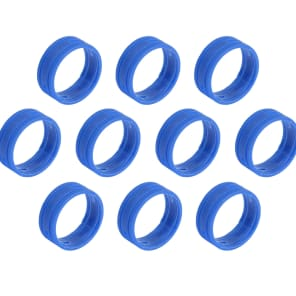 SuperFlex GOLD SFC-BAND-BLUE-10PK Colored Cable ID Rings (10-Pack)