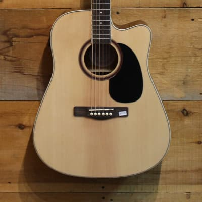 Jay Turser Acoustic Electric Guitar Cut Away JTA-524D Natural NEW for sale