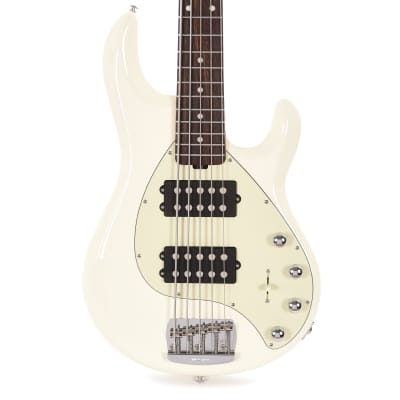Music Man StingRay5 Special 5-String HH Ivory White w/Mint Pickguard