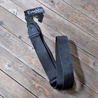 """Franklin 2"""" Polyweb Guitar Straps Black (X1-BK)"""