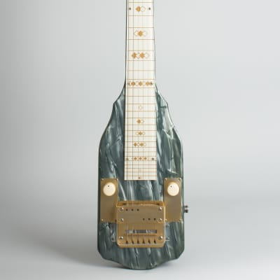 Bronson Singing Electric Lap Steel Electric Guitar, made by Valco (1952), ser. #X-12311, original brown hard shell case. for sale
