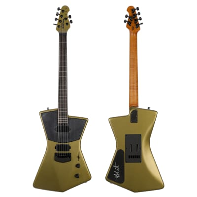 Ernie Ball Music Man BFR St. Vincent HH Electric Guitar - Dargie Green 3