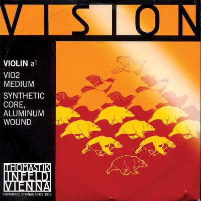 Thomastik-Infeld VI02 Vision Aluminum-Wound Synthetic Core 4/4 Violin String - A (Medium)