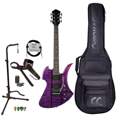 BC Rich Guitars Mockingbird Legacy STQ Hardtail Electric Guitar with Case, Strap, and Stand, Trans Purple for sale