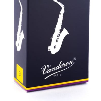 Vandoren Alto Saxophone Reeds Strength 3, Box of 10