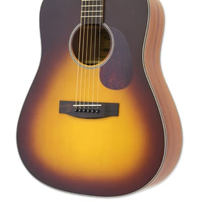Aria ARIA-111-MTTS Vintage 100 Dreadnought, Matte Tobacco, Spruce Top, New, Free Shipping for sale