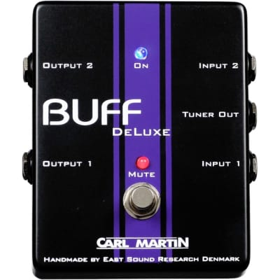 Carl Martin Buff DeLuxe Dual High Quality Signal Buffer Pedal for sale