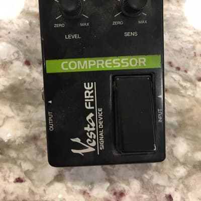 Vesta Fire Compressor Sustainer Rare Vintage Guitar Effect Pedal MIJ Japan