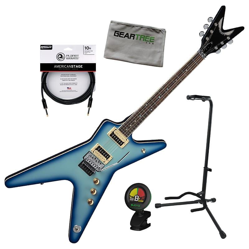 Dean Ml 79 Bb Ml Floyd Blue Burst Electric Guitar W Stand Reverb
