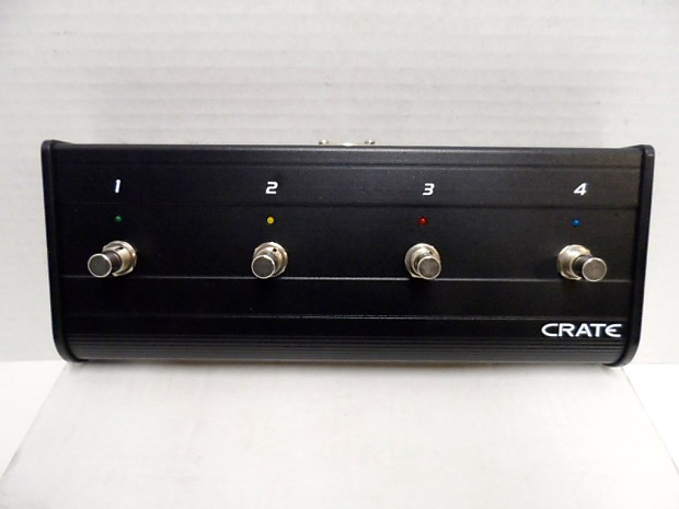 crate bvfs4 4 button channel foot switch pedal bv150 bv300 reverb. Black Bedroom Furniture Sets. Home Design Ideas