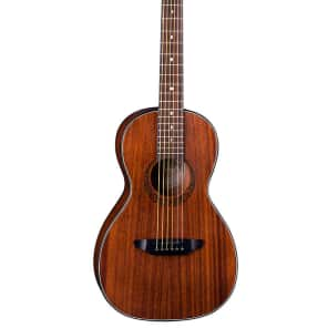 Luna GYP P MAH Gypsy Mah Parlor Acoustic Guitar with Cres Rosette for sale