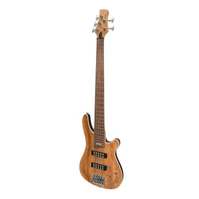 J&D Luthiers '20 Series' 5-String Contemporary Active Electric Bass Guitar (Natural Satin) for sale