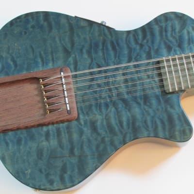 1999 Veillette Journeyman 12 String Baritone #007 Blue w/Figured Wood Upgrades VG/EX for sale