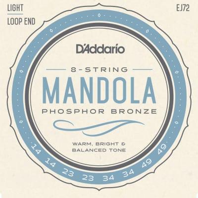D'Addario EJ72 Phosphor Bronze Light Mandola Strings, 14-49