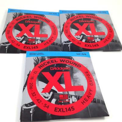 D'Addario Guitar Strings 3 Pack EXL145 Medium Top/Heavy Bottom 12-54