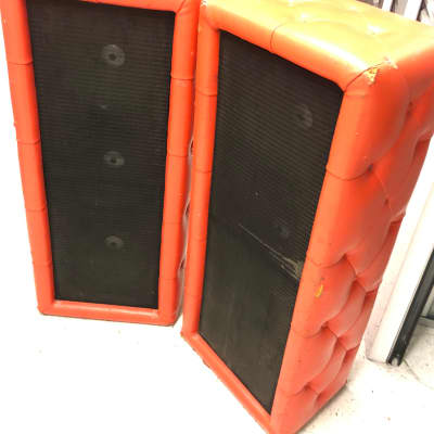 Plush Bass/PA columns 1968 Orange for sale