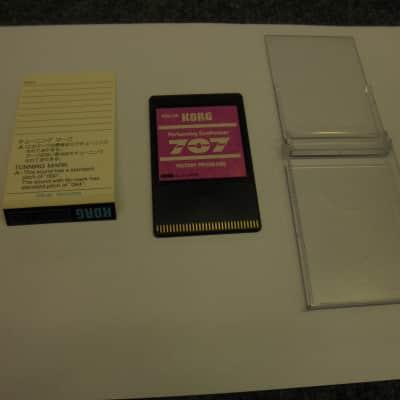 Korg 707 memory card PSU-101 factory programs 1988 pinkish