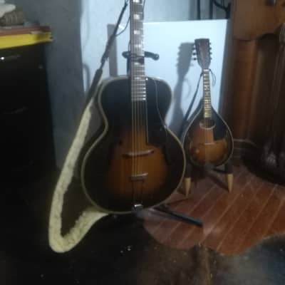 Supertone Archtop guitar and  mandolin 1938 & 1934 Tabacco for sale