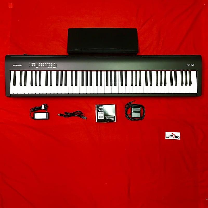 used roland fp 30 digital piano black see description reverb. Black Bedroom Furniture Sets. Home Design Ideas
