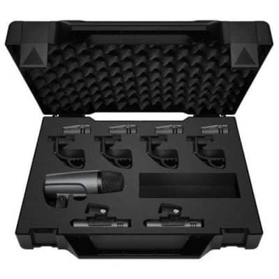Sennheiser Drum Kit 600 Drum Microphone Package, Includes 1x e 602-II Cardioid Mic, 4x e 604 Cardioid Mic, 2x e 614 Super-Cardioid Condenser Mic, Case