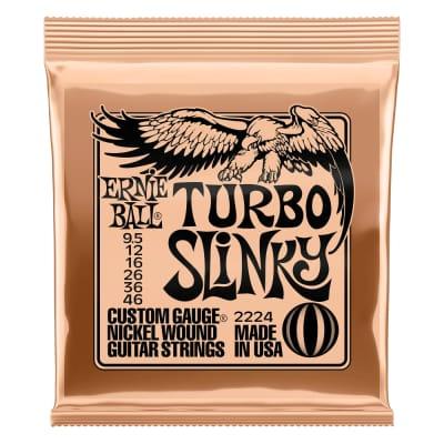 Ernie Ball Turbo Slinky Nickel Wound Electric Guitar Strings 9.5 - 46 Gauge