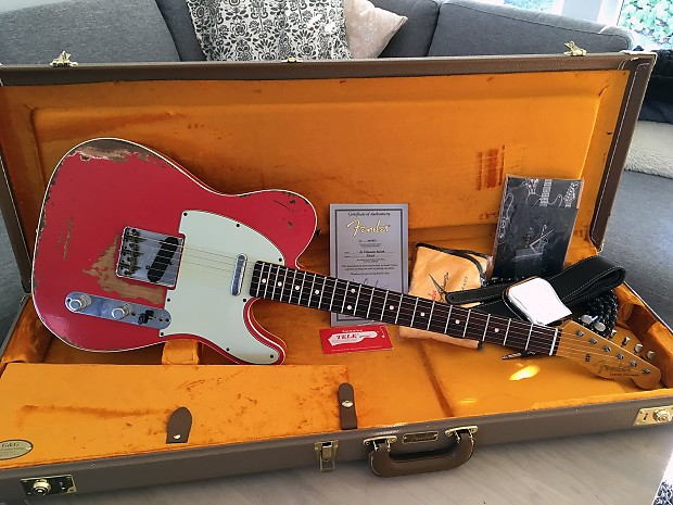 Fender U00ae Custom Shop  U0026 39 60 Fiesta Red Relic U00ae Telecaster U00ae
