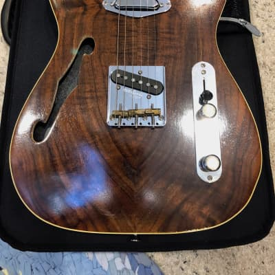 Ramsay Thinline Telecaster-Local Walnut 2018 Natural Walnut for sale