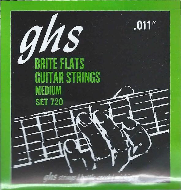 Ghs 720 Brite Flats Electric Guitar Strings Medium 011