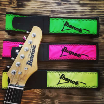Ibanez Neon Colored Guitar Strap