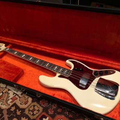 Vintage 1966 Fender Jazz Bass Factory Custom Colour Olympic White Guitar w/ OHSC