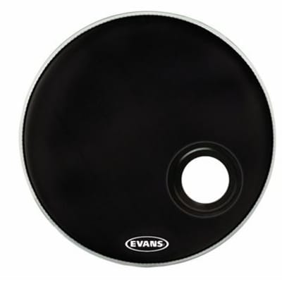 Evans REMAD EMAD Resonant Bass Drum Head 24 inch Black