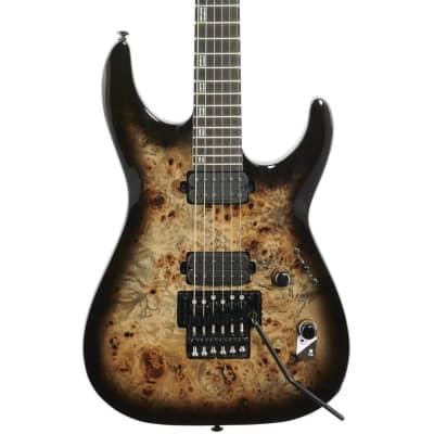 ESP LTD H-1001FR Electric Guitar, Black Natural Fade